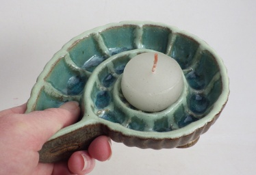 ammonite candle holder