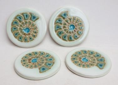 ammonite coasters
