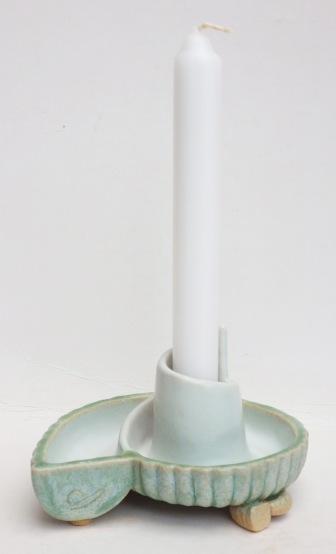 ammonite candle holder
